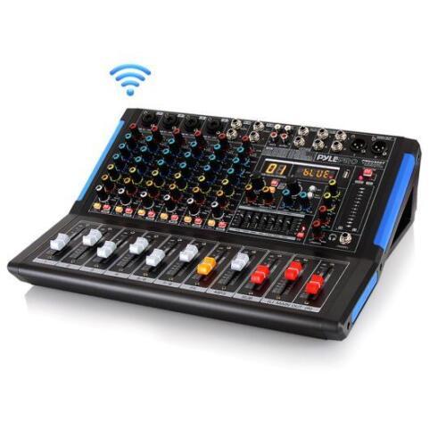 Pyle PMXU88BT Bluetooth 8 Ch. Studio DJ Controller Audio Mixer Console System