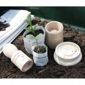 Seedling Paper Potter - A great way to recycle old newspapers