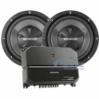 KENWOOD PACKAGE DEAL Amplificador de áudio para carro 2-Channel + (2) Subwoofers de polegada 12