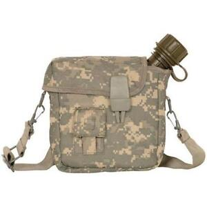 2 qt Water Canteen with Insulated Carrier and Shoulder Sling