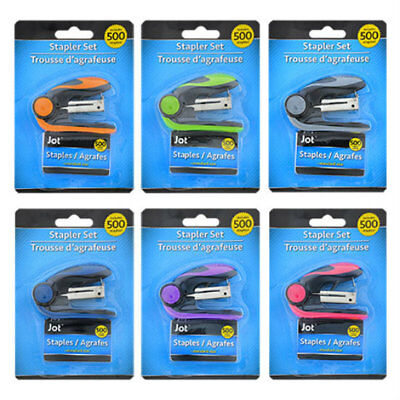 Jot Mini Stapler Ergonomic Style 500 Staples Picked At Random