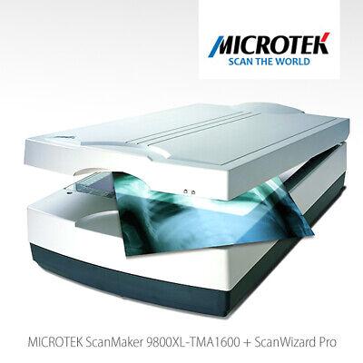 MICROTEK ScanMaker 9800XL mit TMA1600 A3-Scanner Mittelformat Dia Negativ X-Ray