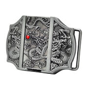 Silver Dragon Buckle Belt