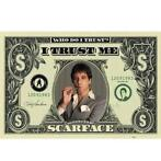 Poster Scarface Dollars 140 x 100 cm - Posters