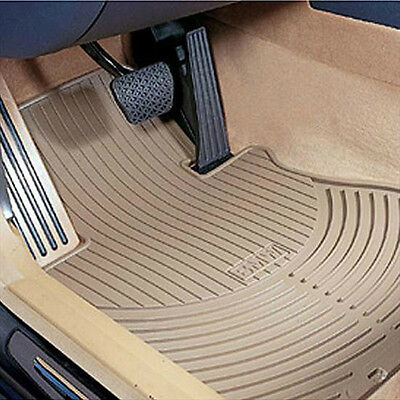 BMW OEM Beige Rubber Floor Mats FRONTS 1997-2003 E39 Sedans & Wagons 82550151508 Bmw 2002 Rubber