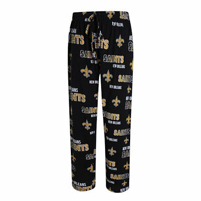 NFL Men's Sweep Lounge Pants Pajamas Knit Cotton New Orleans Saints - XLG