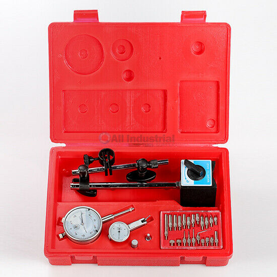 Dial Indicator, Test Indicator, Magnetic Base & Point Set Inspection Set