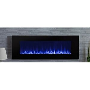 Real Flame 1330E-BK 1330E Dinatale Wall-Hung Electric Fireplace- Black NEW