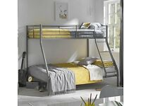 🔥🔥BUY IT NOW GET SAME DAY🔥🔥BRAND NEW TRIO SLEEPER METAL BUNK BED SAME DAY EXPRESS DELIVERY