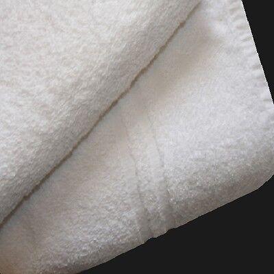 120  NEW COTTON BLEND 24X48 WHITE HOTEL- CROWN BATH TOWELS HOTEL SPA RESORT IR*