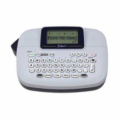 Brother P-touch Ptm95 Handy Label Maker 9 Type Styles 8 Deco Mode Patterns White