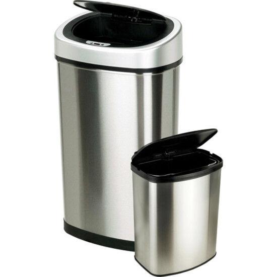 Nine Stars 13.2 Gallon Slim / 2.1 Gallon Trash Can Combo Set