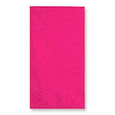 HOT PINK  (50) BANQUET DINNER PAPER NAPKINS Party Supplies!! For Any Party!
