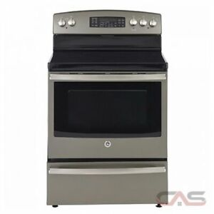 STOVE GE SMOOTHTOP CONVECTION SLATE   OPEN BOX NEW