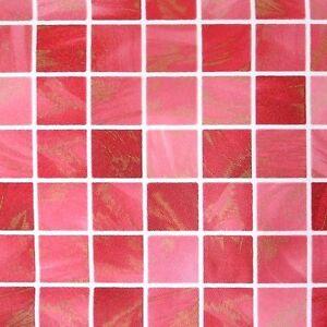 Red Wallpaper Tile Effect Pattern Vinyl Self Adhesive
