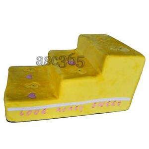 3  Steps Puppy Couch Indoor Step Stool Portable Pet Stairs Yellow Duck#239033