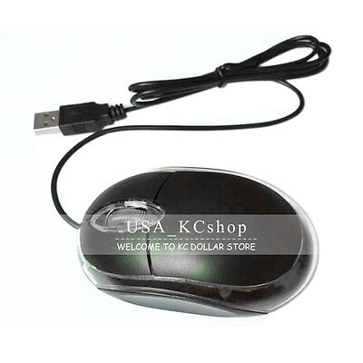 New Wired USB Optical Mouse Light Scroll Wheel Mice for Laptop Computer PC -