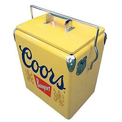 Koolatron CBVIC-13 Coors 13 L Retro Vintage Banquet Ice Chest In Yellow New
