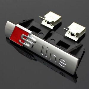 GRILL GRILLE CHROME Matte Badge For Audi S Line SPORTS CAR Emblem A3 A4 A5 TT Q7