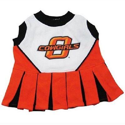 Oklahoma Kostüme (NCAA Oklahoma State Cowboys Dog Pet Cheerleader Dress (sizes))