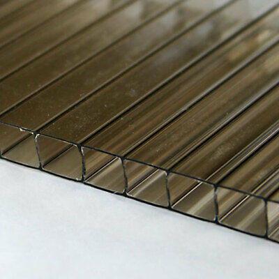 14 6mm Polycarbonate Twin Wall 60x16 Bronze Tinted Large Sheet Azm