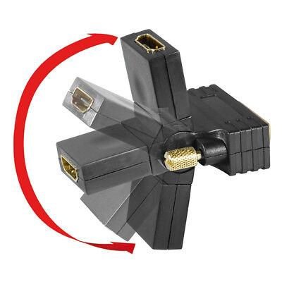 HDMI Kupplung DVI-D 24+1 Monitor Stecker Adapter flexibel drehbar abgewinkelt Hdmi Dual Monitor