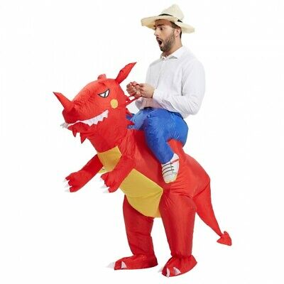 Ride On Dinosaur Costume Inflatable Blow Up Suit T-Rex (Hat Included) Adult E-3