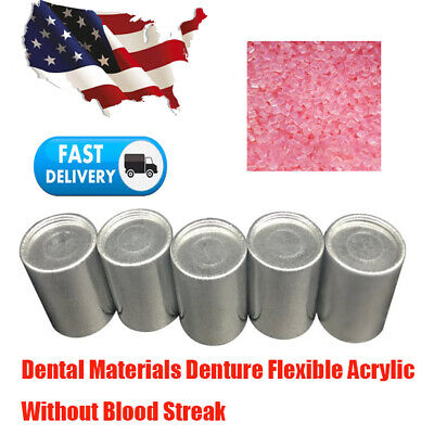 5 Cans Dental Materials Denture Flexible Acrylic Without Blood Streak Big Large