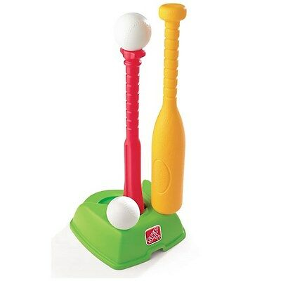 Step2 2-in-1 T Ball Golf Tee Stand Set Club Bat Toddler Baseball Equipment Toys