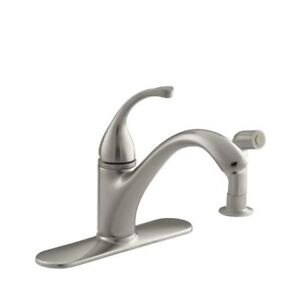 Kohler 10412-BN Forte Single-Control Kitchen Sink Faucet With Es