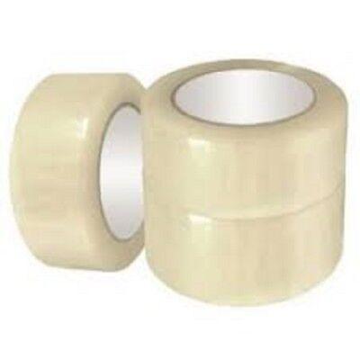 6 Rolls Shipping Packaging Packing Box Sealing Tape 1.6 Mil 2 X 55 Yard 165ft