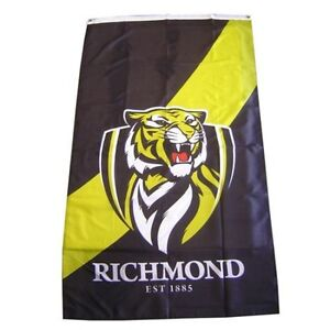 Richmond Tigers AFL Supporters Flag 90 by 150cms! Officially Licensed Flag!