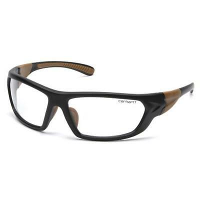Carhartt CHB210D Carbondale Black/Tan Frame With Clear Lens Safety Glasses Business & Industrial