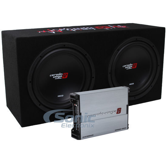 "Cerwin-Vega BKX7212S 3000W Amplified Basskit Dual 12"" Loaded Subwoofer Bass Box"