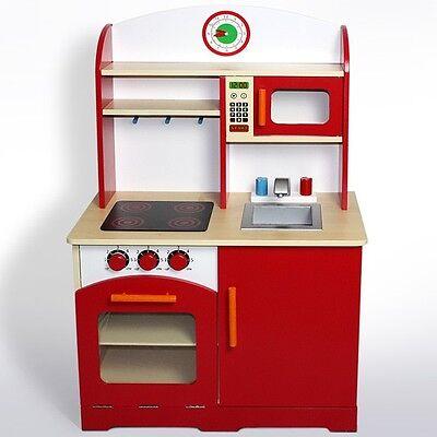 Kinderküche Spielküche aus Holz Kinderspielküche Spielzeug Küche Spielherd Neu