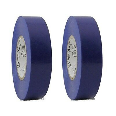 2 Rolls Blue Vinyl Pvc Electrical Tape 34 X 66 Flame Retardant Free Shipping
