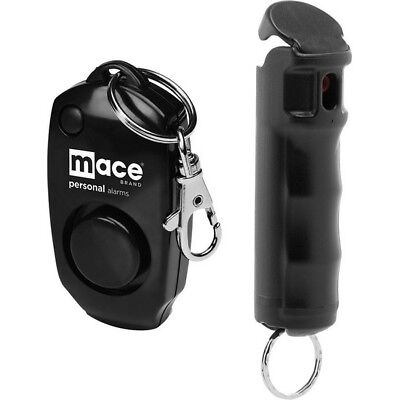 Mace 80473 Black Alarm & Pepper Spray Combo w/10 Bursts & 10' Range