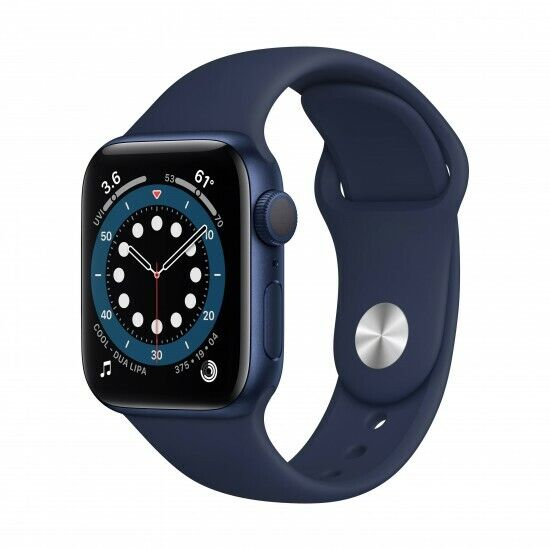 NUEVO Apple Watch Series 6 GPS 40mm Caja de aluminio azul Correa deportiva MG143