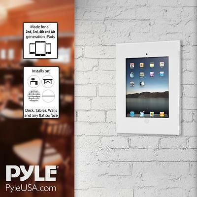 New! Pyle Tablet  Security Anti-Theft Wall Mount  Public Display with  Safe Lock