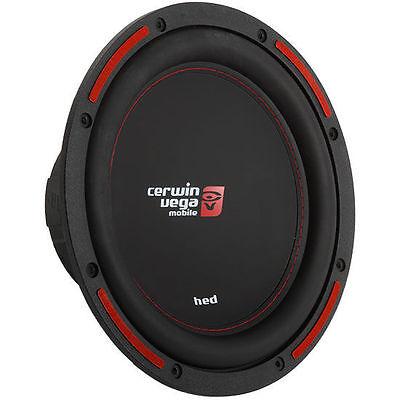 "CERWIN VEGA 1200W 12"" Single 4-Ohm HED Series Car Audio Subwoofer | H7124S"