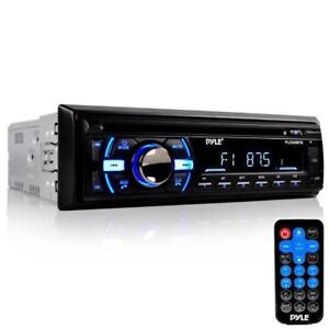 PYLE PLCD43BTM Bluetooth Marine Audio Stereo CD Player, Hands-Free Call Answer, USB/MP3/SD/AUX