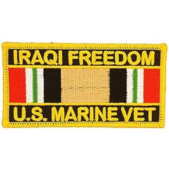 IRAQI FREEDOM U.S MARINE VET PATCH