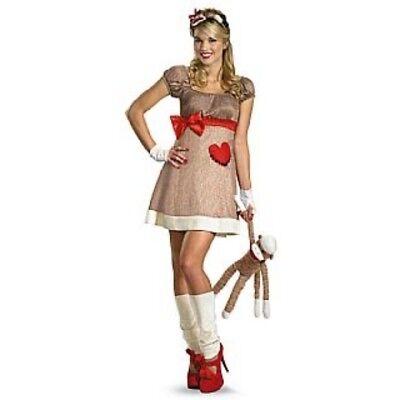 iz Deluxe Socke Affen-Kostüm Kleid mit / Affe Schwanz (Damen Socke Affe Kostüm)