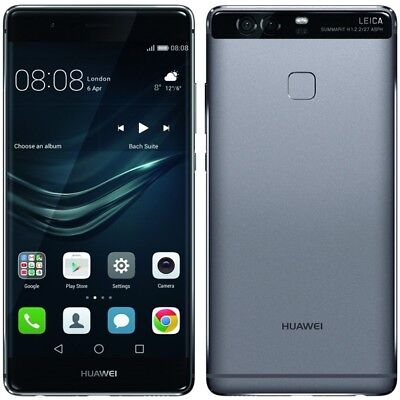 Huawei P9 Smartphone (13,2 cm (5,2 Zoll) Touch Display, 32GB interner Speicher, Android 6.0) titanium grau
