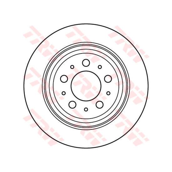 Bremsscheibe, 1 Stück TRW DF6048