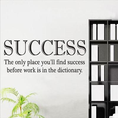 Huhome PVC Wall Stickers Wallpaper English Proverbs success