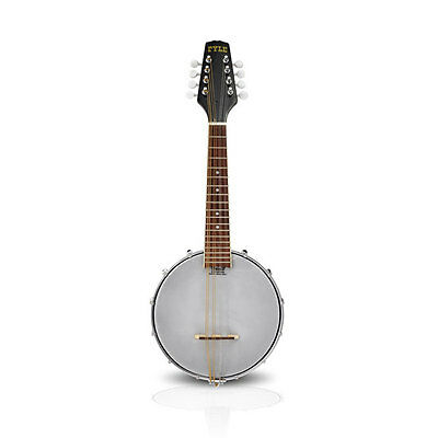"NEW Pyle PBJ20 23"" 8-String Mandolin-Banjo w/Jade Tuner Pegs, Rosewood Fretboard"