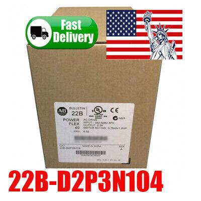 Allen-bradley 22b-d2p3n104 Powerflex 40 Plc Ac Drive 480vac 3 Phase 1.75kw 1hp