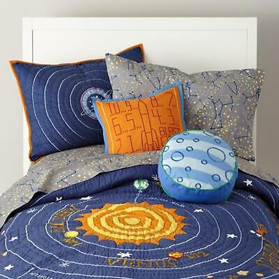 Crate and Kids/Land of Nod Solar System Quilt: Queen w/ 2 Standard Shams