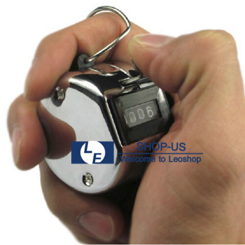 New Golf Hand Held Tally 4-Digit Number Clicker Sport Counter Counting Recorder